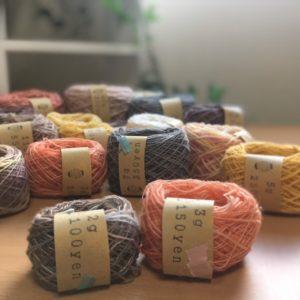 綿100%の手紡ぎ糸