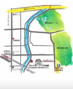 グッドモーニング坊城地図
